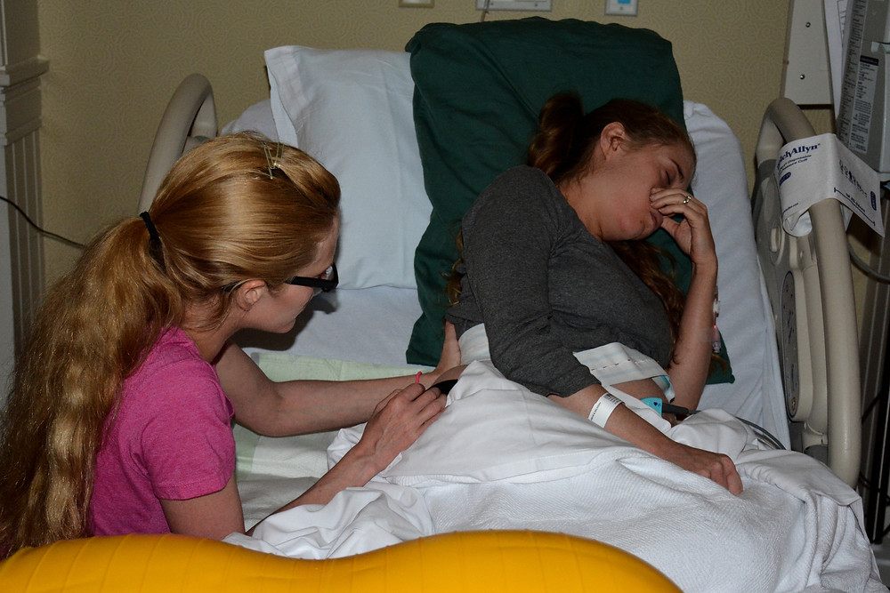 Counter pressure by the doula