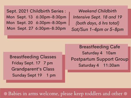September classes and groups