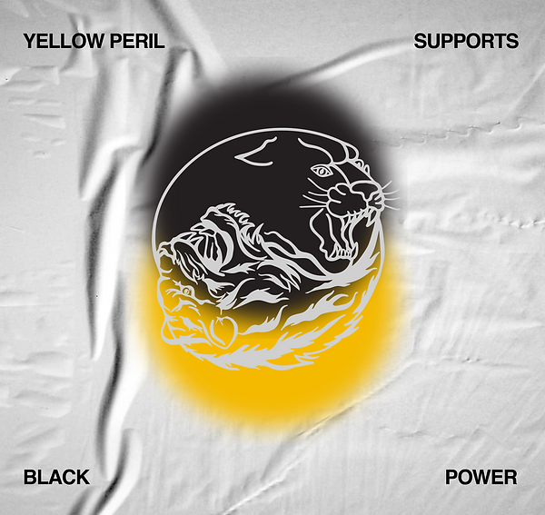 YELLOW PERIL SUPPORTS BLACK POWER by JEAN PYO