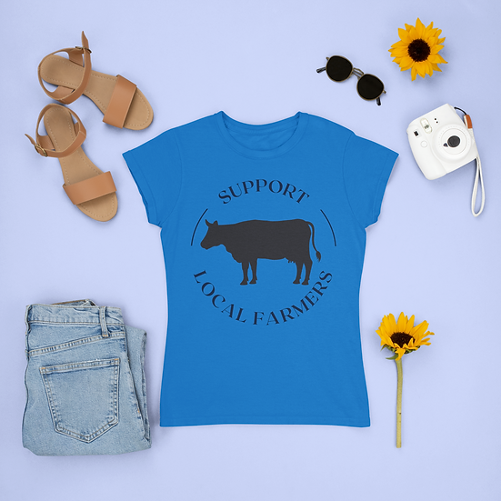 Support Local Farmers Cattle Shirt