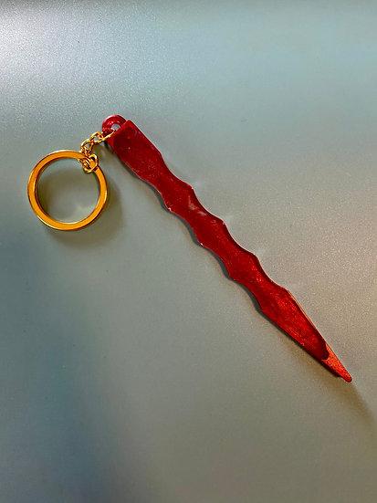5 inch Blood Theme Window Breaker Keychain