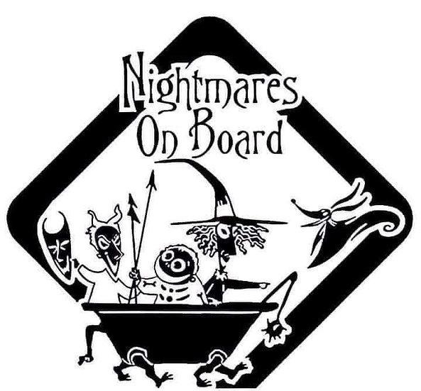 Nightmares On Board Sticker