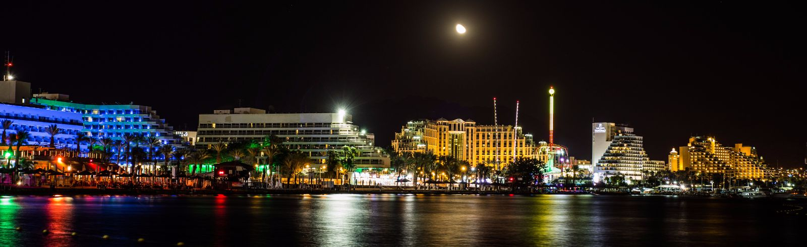 Eilat_Coastline_At_Night