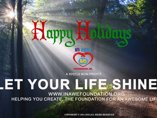 Happy Holiday and New Year from In Awe Foundation Inc.