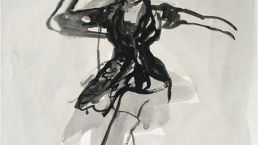 Untitled Drawing with Long Boots
