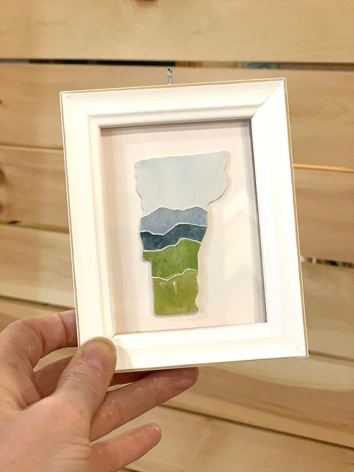Vermont State Watercolor Ornament