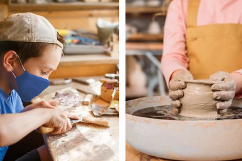 Woodcarving and Pottery