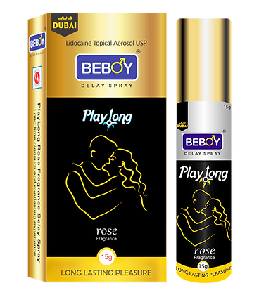 Beboy Play Long Fragrance Delay Spray (Rose Scent)
