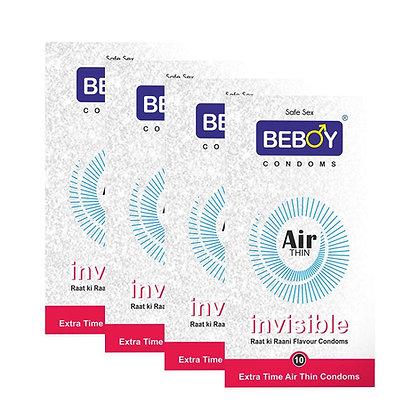 Beboy Air Thin Extra Time Raat Ki Raani Condoms   Free 4 Beboy Pocket Pack
