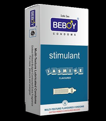 Beboy Stimulant Multi-Textured 4-in-1 Condoms 6 Pcs (Jasmine)