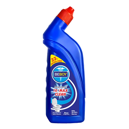 Beboy Disinfectant Toilet Cleaner Liquid, Rose - 600 ml   Kills 99.9% Germs