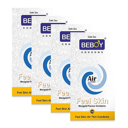 Beboy Air Thin Feel Skin Marigold Condoms | Free 4 Beboy Pocket Pack