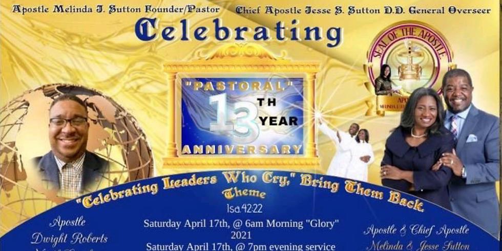 Pastor's Anniversary: Celebrating 13 Years of Ministry