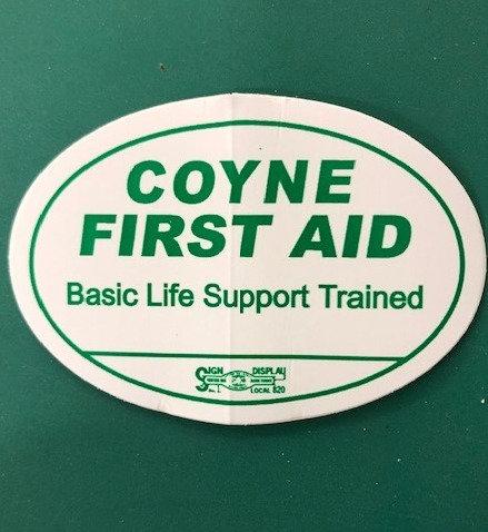 Hard Hat CPR/AED Sticker