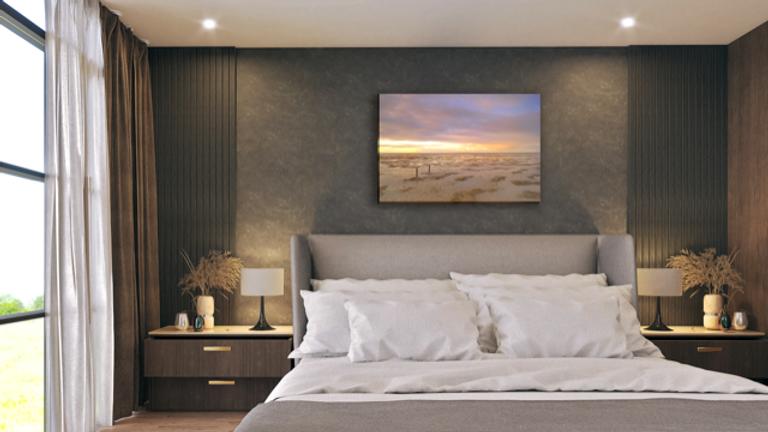 landschap op canvas