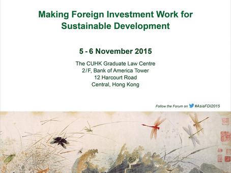 Asia-Pacific Forum I - November 5-6, 2015