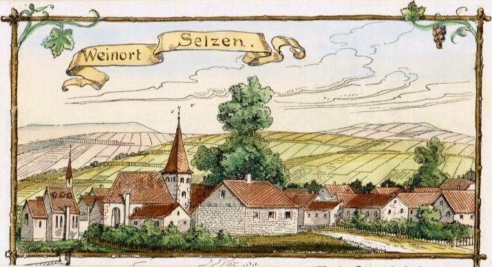 1910: Dorfansicht mit Sporebaum