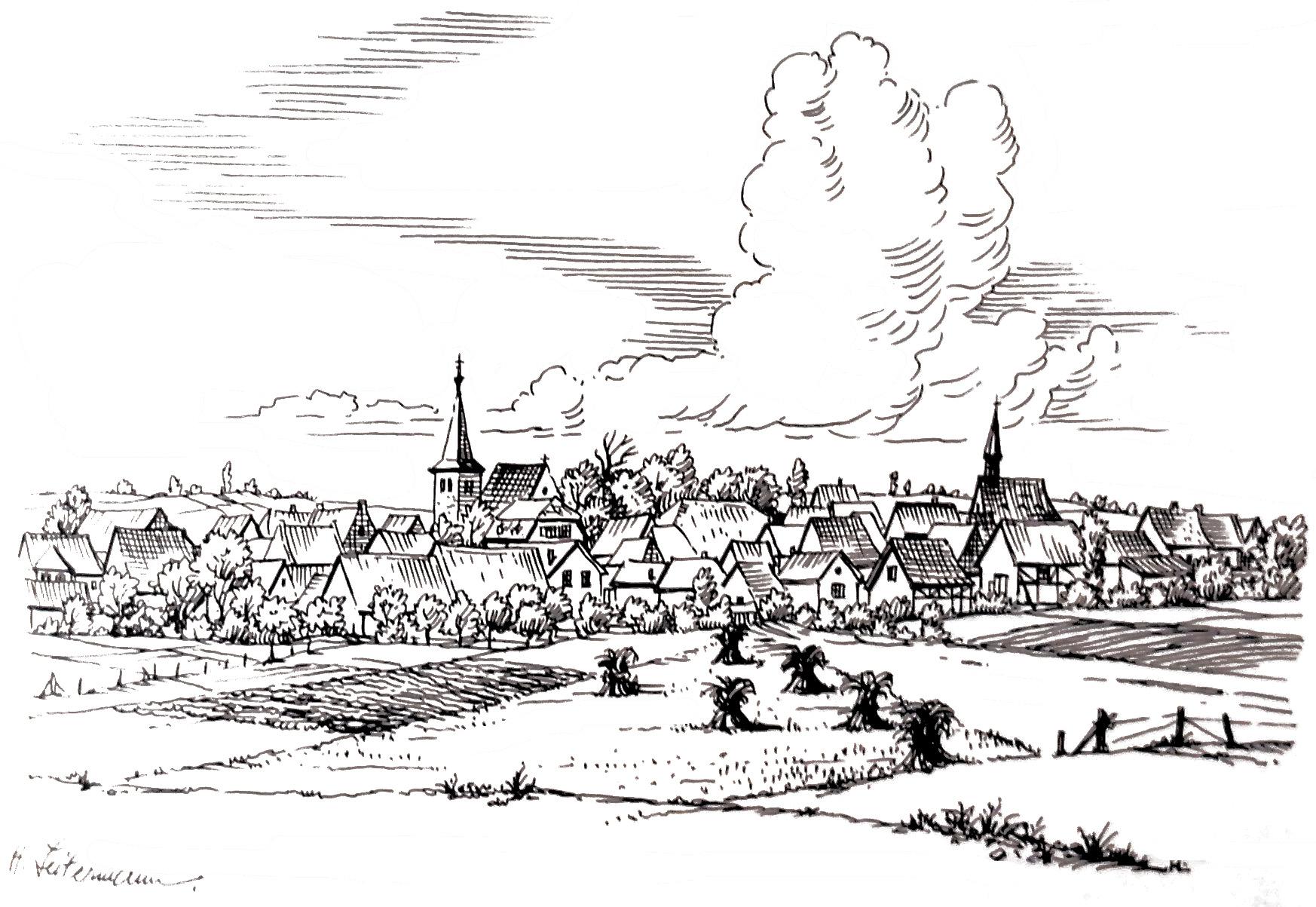 1949: Dorfansicht