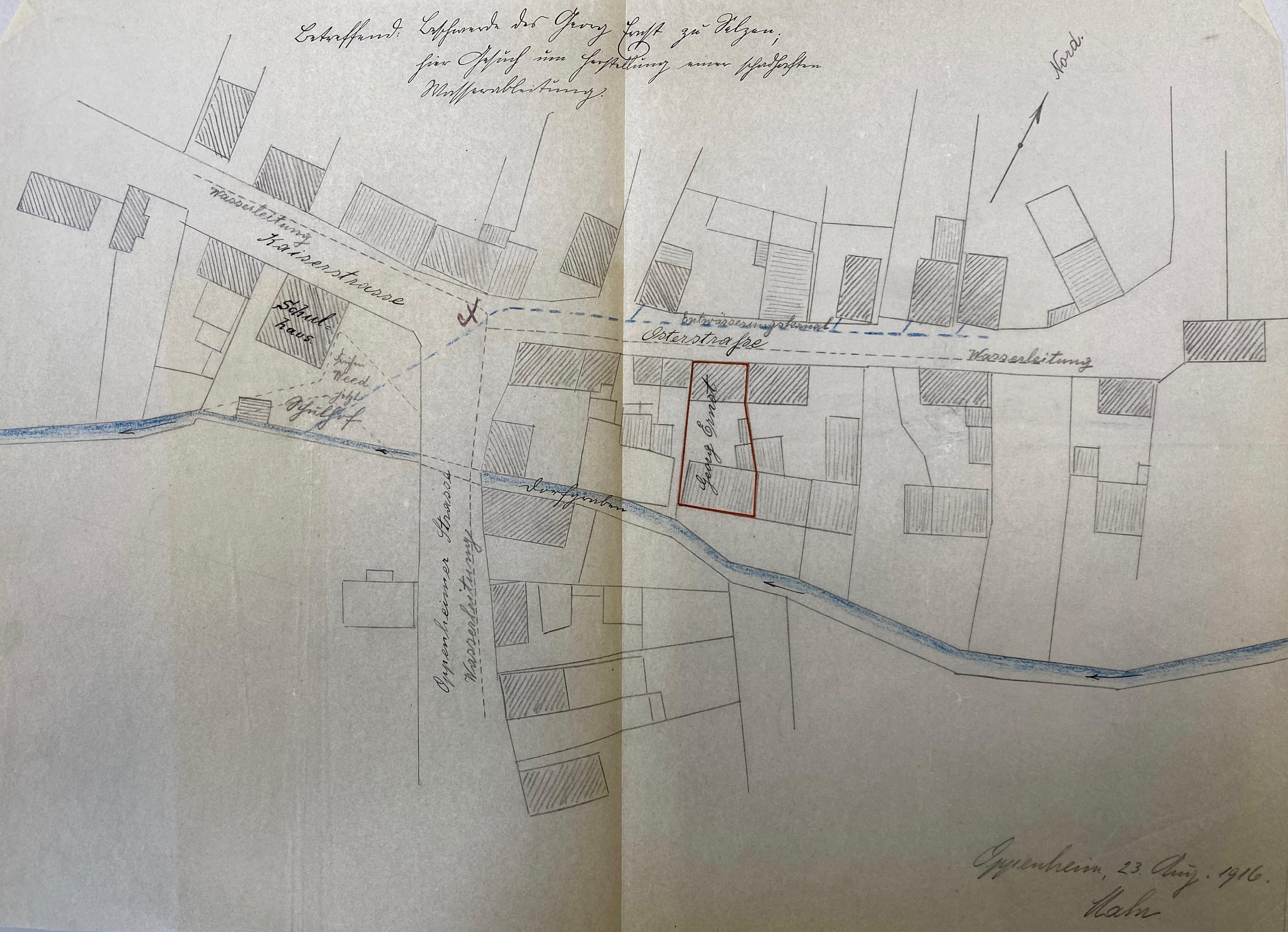 1916: Ostergasse/Kaiserstraße
