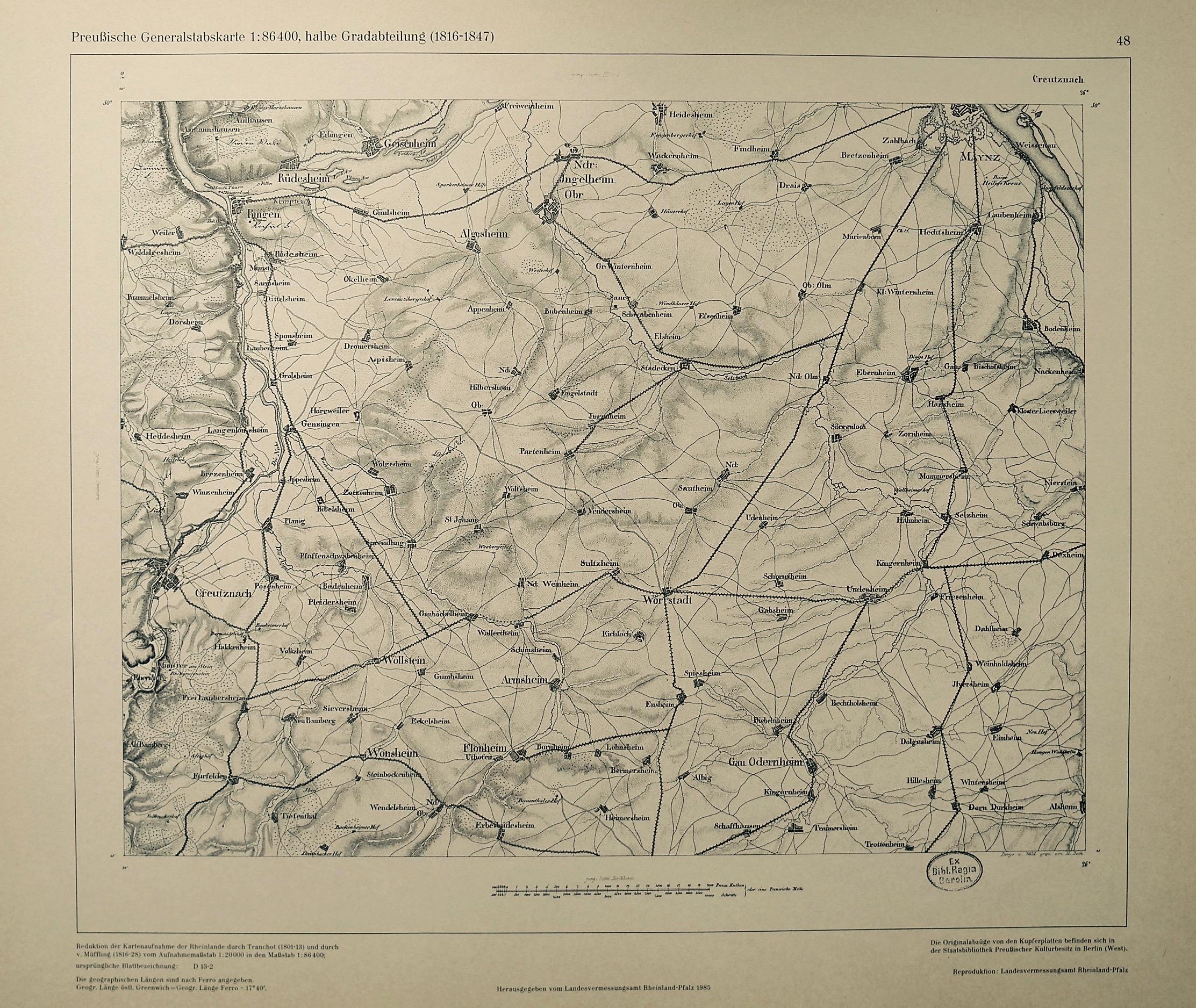 1816: Preußische Generalstabskarte
