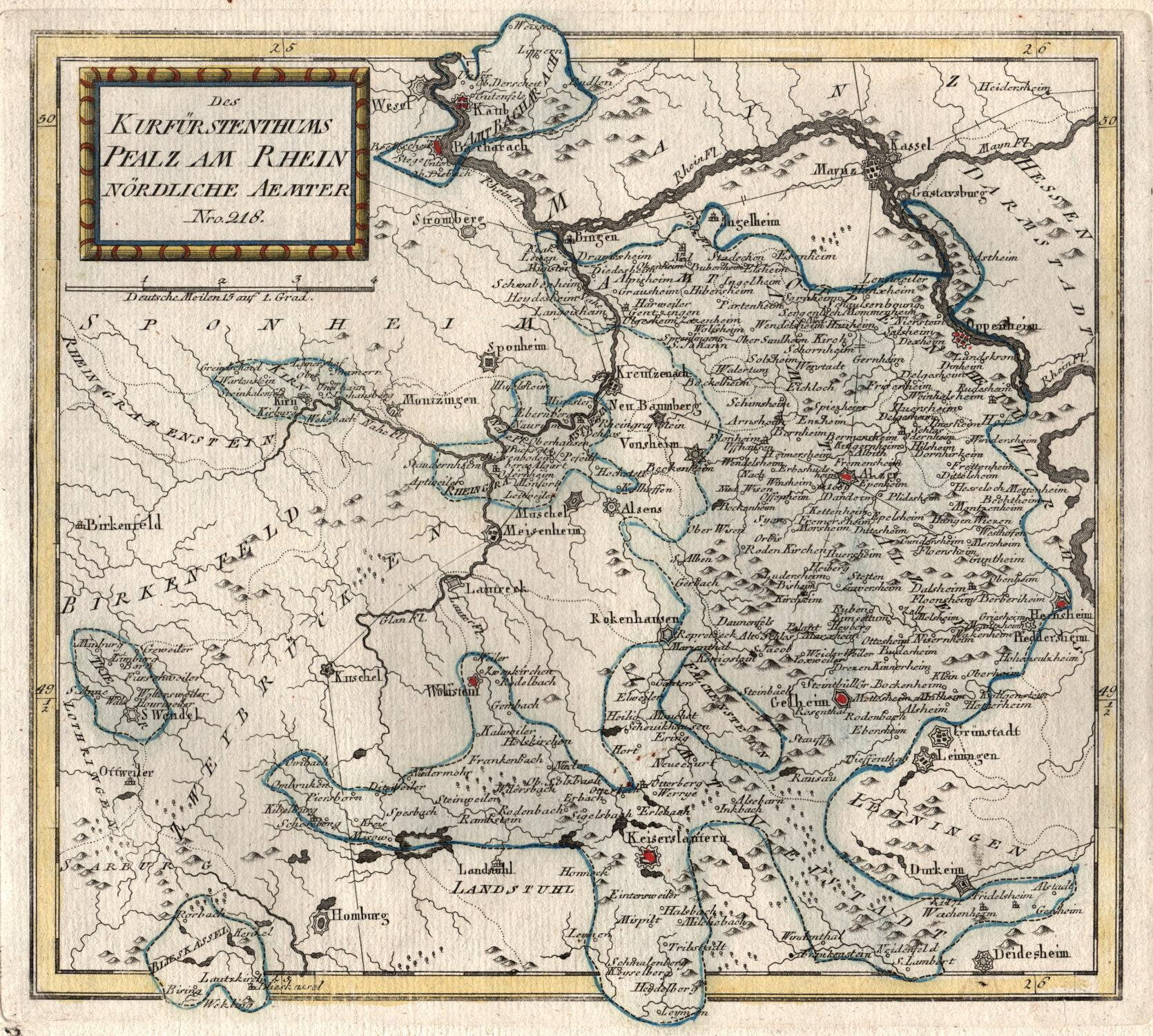 1791: Kurfürstentum Pfalz