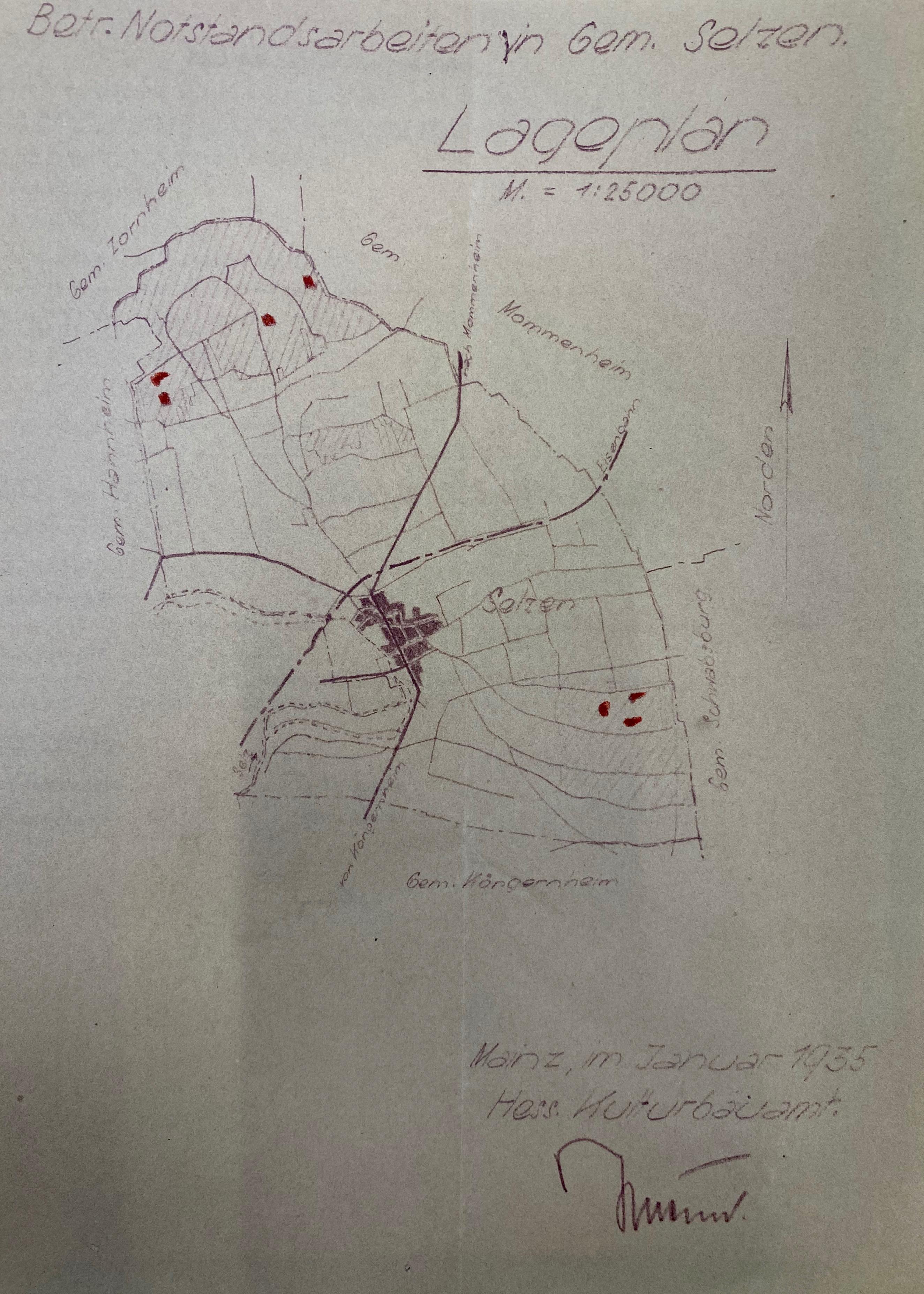 1935: Gemarkung Selzen