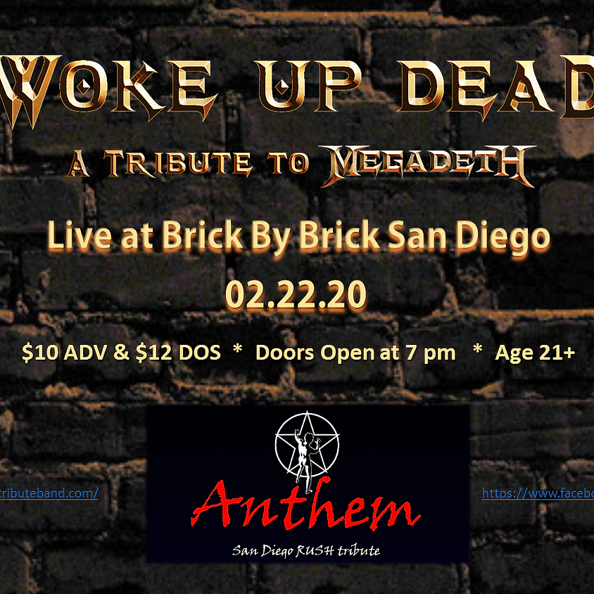 Woke Up Dead with Anarchy-X, Anthem and Blackout at Brick By Brick