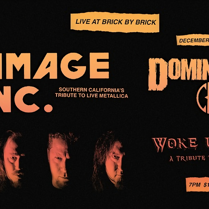 Damage, Inc. with Woke Up Dead at Brick by Brick