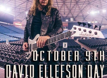 October 9th is Dave Ellefson Day in Jackson, MN