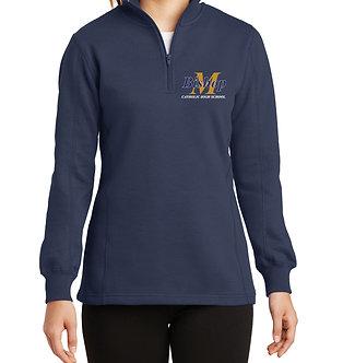 1/4 Zip Ladies Fleece Sweatshirt