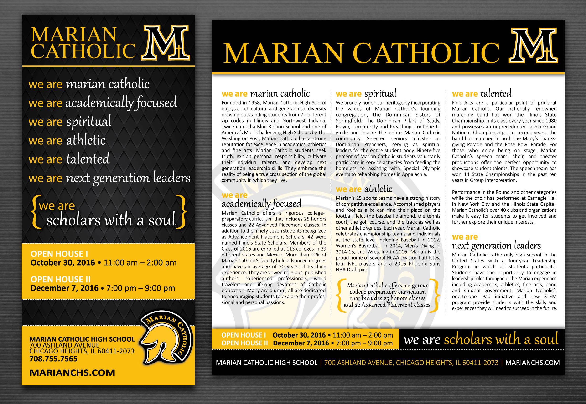 Marian Catholic High School • ads