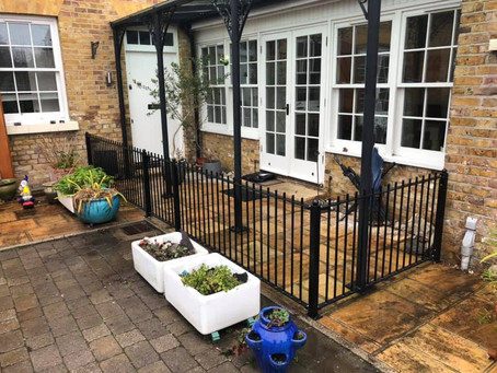 Custom Made Metal Dog Pen and Gate for Garden