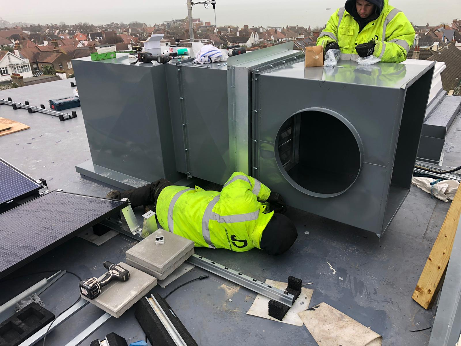 commercial ducting fabrication pipework welding Essex London Hotel contractor