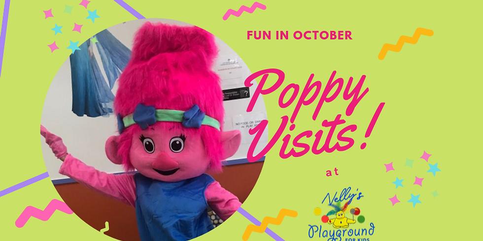 Princess Poppy from Trolls visits! 10/4