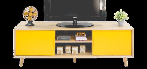 מזנון טלוויזיה רטרו צהוב