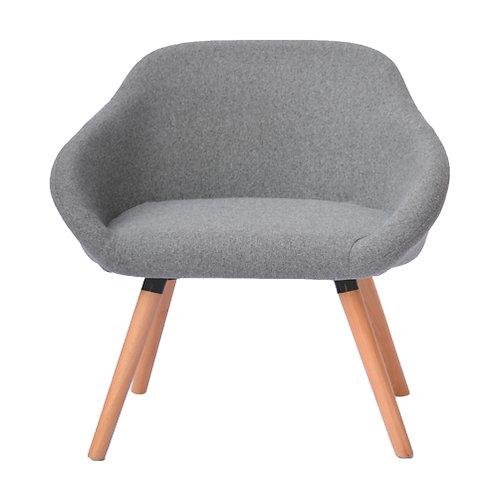 כורסא בלגית אפורה