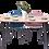 Thumbnail: שולחן אוכל אובלי רגל שחורה