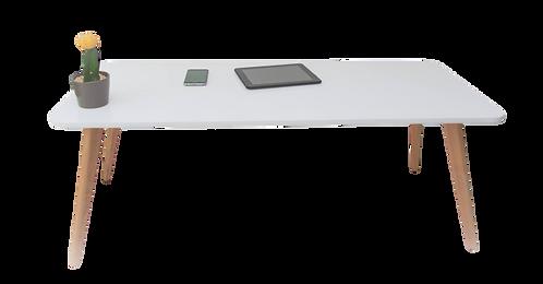 שולחן סלון מלבן לבן