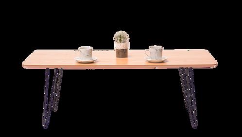 שולחן מלבן רגל ברזל