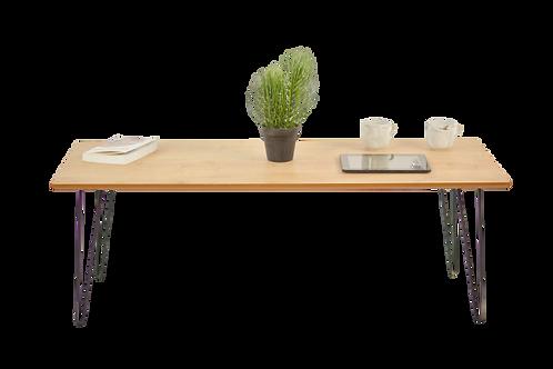 שולחן מלבן צבע אלון מבוקע