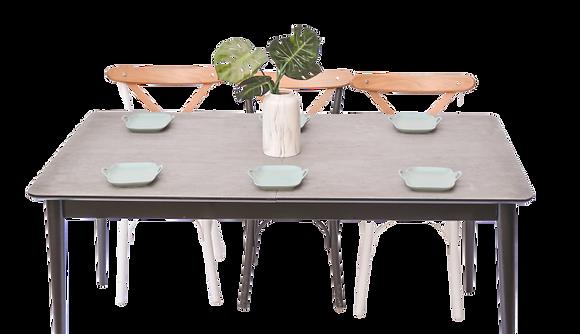 שולחן אוכל נפתח צבע בטון