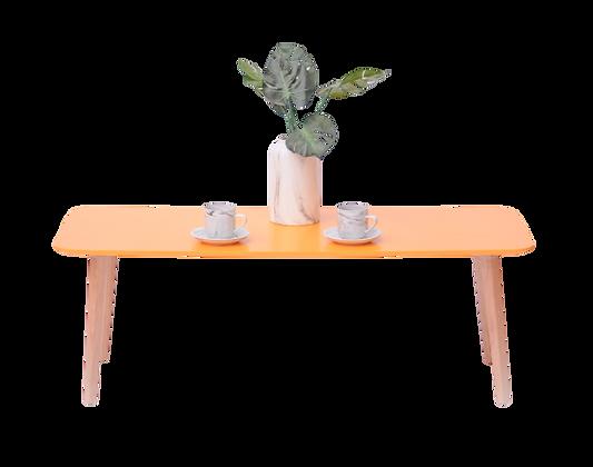 שולחן קפה מלבן צהוב