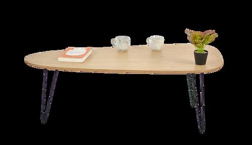 שולחן טיפה צבע אלון מבוקע
