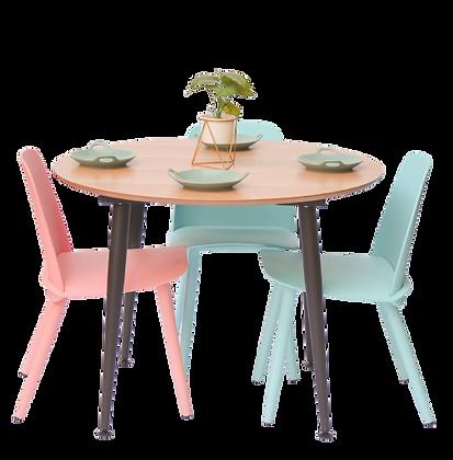 שולחן עגול קוטר 100 סמ