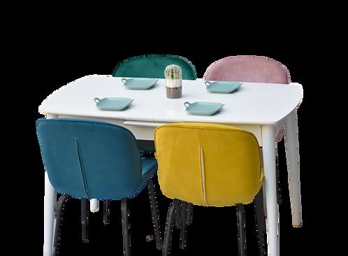 שולחן מלבן לבן נפתח