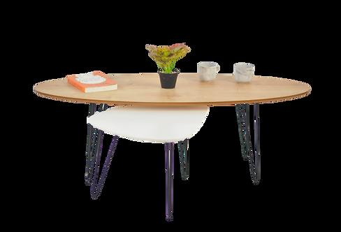שולחן אובלי + שולחן טיפה