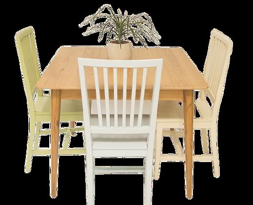 שולחן אוכל ריבוע רטרו