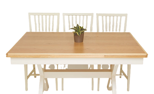 שולחן אוכל רגל איקס נפתח