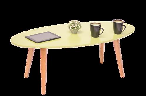 שולחן אובלי ירוק