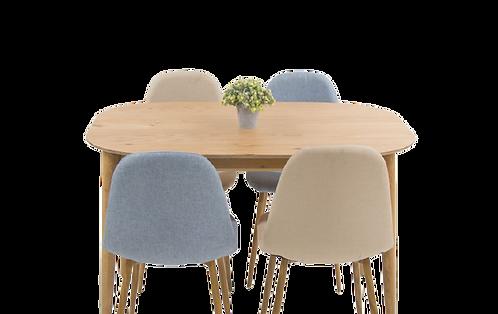שולחן אובלי סקנדינבי לא נפתח